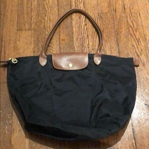Large black Longchamp tote